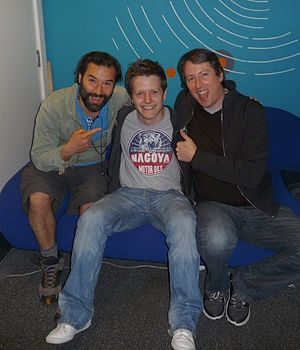 Adam and Joe - A fan with Adam and Joe at BBC 6 Music in 2009
