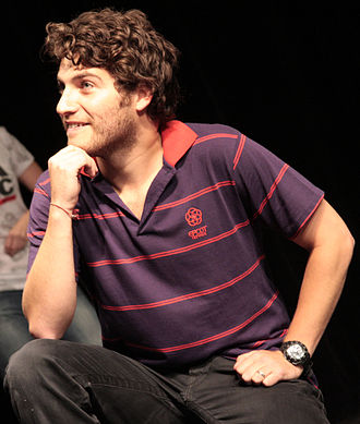 Adam Pally - Pally performing at the Upright Citizens Brigade Theatre in 2008.