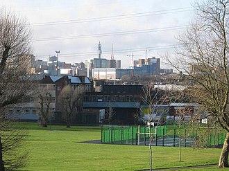 Adderley Park - Image: Adderley Park and City skyline geograph.org.uk 1633491