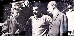 Adonias Filho - Adonias Filho (on the right) with fellow writers Gabriel Garcia Marquez (center), and Jorge Amado (left).