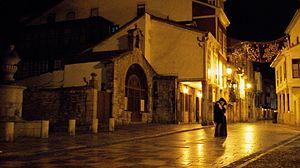 Advent (film) - Scene of Advent (Ad-vientu) in Avilés, Asturias, with David Soto Giganto and Ici Diaz.