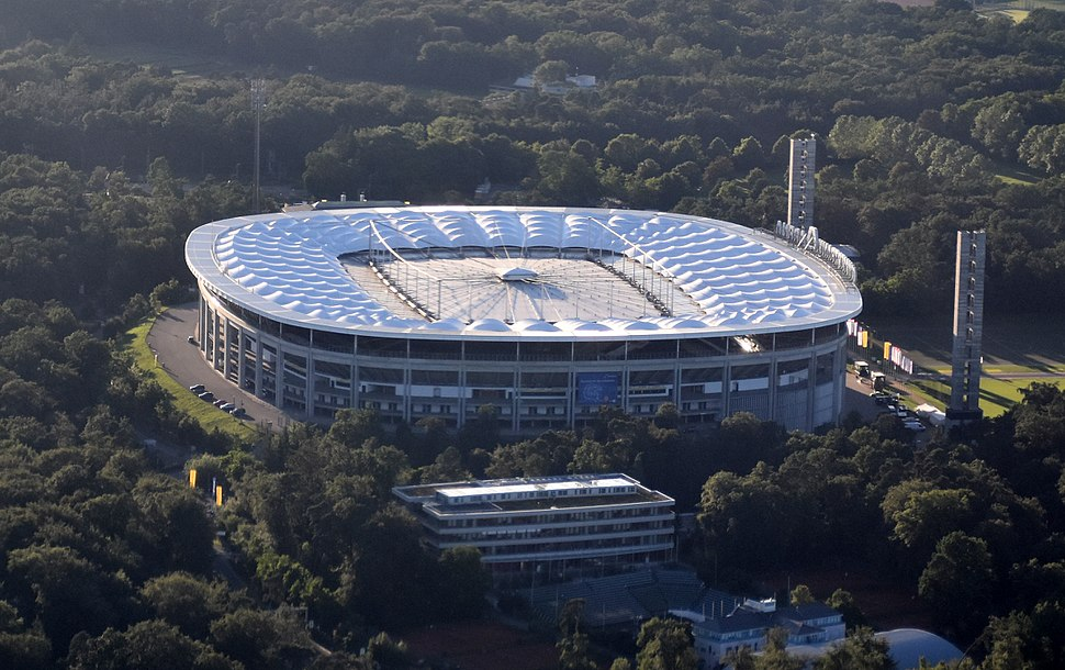 Aerial view of Commerzbank-Arena