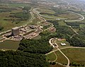 Aerial view of Wilson Hall, Fermilab.jpg