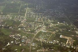 Belmopan from the air