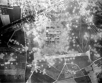Orly Air Base - Orly Airfield after two Eighth Air Force bombing raids, taken on 6 June 1944. The Luftwaffe-controlled airfield would have one more heavy bomber attack on 25 June, when 18 B-17s would bomb the facility