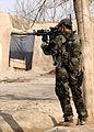 Afghan and coalition forces patrol western Kandahar village DVIDS545433.jpg