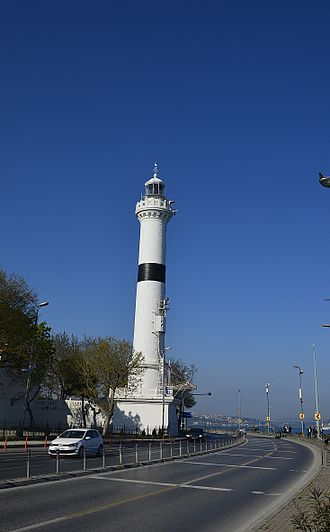 Ahırkapı Feneri - Ahırkapı Lighthouse seen from Marmara Sea.