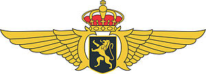 Aviator badge - Wing/Badge/Brevet of Belgian Air Force Pilot