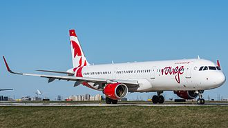Air Canada Rouge - Image: Air Canada Rouge Airbus A321 at Pearson Airport