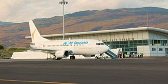 Prince Said Ibrahim International Airport - Air Tanzania B737 at the airport