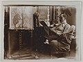 Akseli Gallen-Kallela sitting in an armchair in Budapest, 1908. (14725714161).jpg