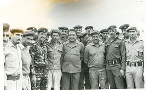 Ibrahim al-Hamdi - Al-Hamdi and some revolutionary officers during his presidency (1974-1977)