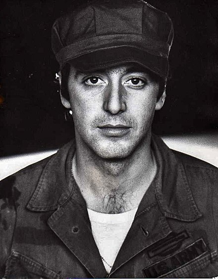 Al Pacino (pictured above in The Basic Training of Pavlo Hummel) was chosen to portray Michael Corleone. Al Pacino - Hummel.jpg