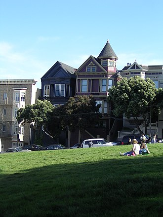Alamo Square, San Francisco - Alamo Square facing south
