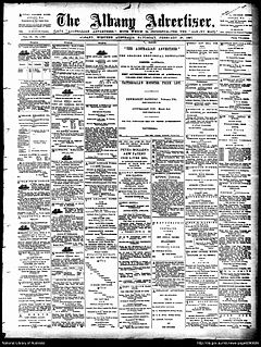 <i>Albany Advertiser</i> English language newspaper published for Albany and the Great Southern region in Western Australia
