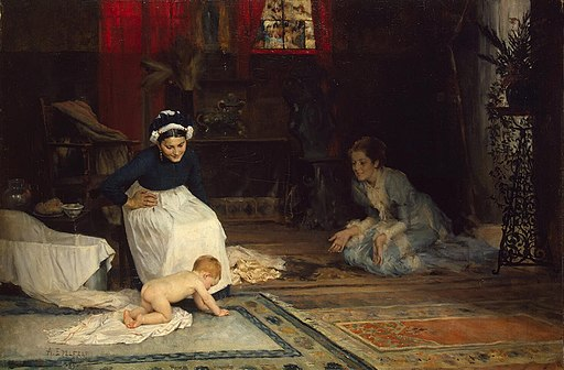 Albert Edelfelt - Lastentarha (1885)