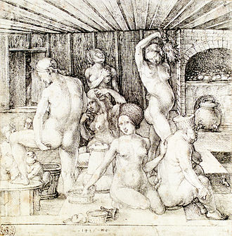 Hygiene - Woman's Bath, 1496, by Albrecht Dürer