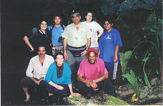 Aldemaro Romero Jr. - Aldemaro Romero Jr. (center) with a group of collaborators at Cumaca Cave, Trinidad, W.I.