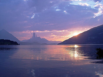 Alderaan - Composite image based on a shot of Lake Thun, depicting Alderaan