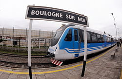 An Emepa Alerce at Boulogne Sur Mer train station on the Belgrano Norte Line