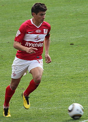Alex Raphael Meschini - Alex dribbling during a match.