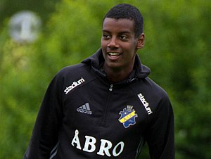 Alexander Isak - Isak during an AIK training session in 2016