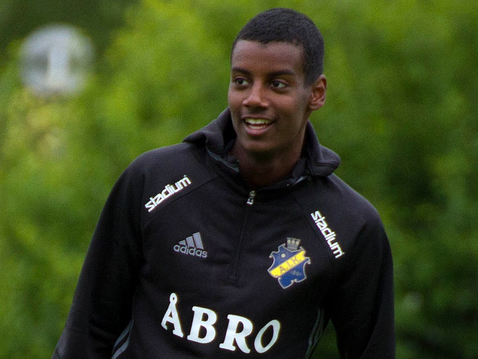 Alexander Isak (training 2016, cropped 2)