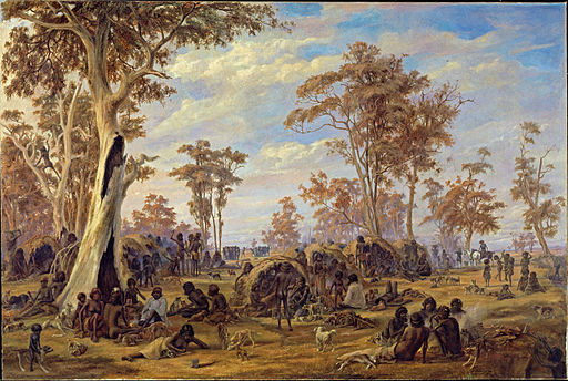 Alexander Schramm - Adelaide, a tribe of natives on the banks of the river Torrens - Google Art Project