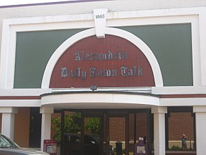 The Town Talk - Third Street entrance to The Town Talk in Alexandria, Louisiana