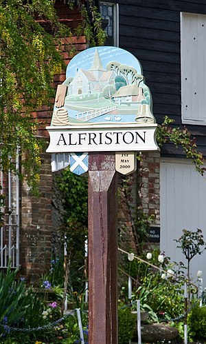 Alfriston - Image: Alfriston Village Sign May 2009