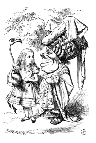 Duchess (Alice's Adventures in Wonderland) - Alice and the Duchess, 1865 illustration by John Tenniel