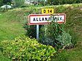 Alland'Huy (Ardennes), panneau d'agglo.jpg