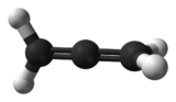 Ball and stick model of propadiene