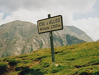 Col d'Allos - Sign at the summit