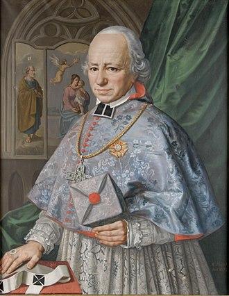 Kolowrat family - Count Alois Josef Krakowský of Kolowrat, Baron of Újezd, and Archbishop of Prague