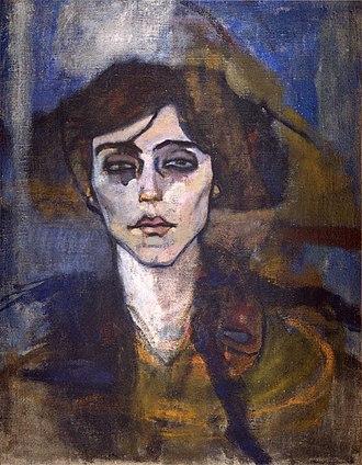 Hecht Museum - Amedeo Modigliani, 1907, Portrait of Maude Abrantes, oil on canvas, 81 x 54 cm