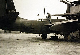 Douglas A-20 Havoc - In Iran, an American mechanic completes maintenance on an A-20 before delivery to Russia, 1943