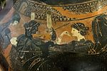 Amphora in black figure, Quadriga, peoples, goose, AM Agrigento, 121005.jpg