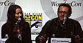 Amy Acker & Josh Appelbaum at WonderCon 2010.jpg