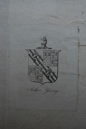 Arthur Young (agriculturist) - One of Arthur Young's bookplates in a Royal Agricultural Society of England book