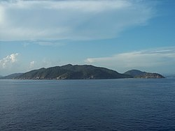 Anambas Islands seen from far.