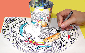 Anamorphosis - Anamorphic art toy by Myrna Hoffman