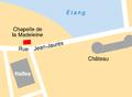 Ancienne chapelle Madeleine Pont-l'Abbé localisation.png