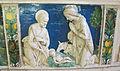 Andrea della robbia (bottega), pala dei santi sebastiano e giuliano, natività, 1495-1500 ca. 0.JPG