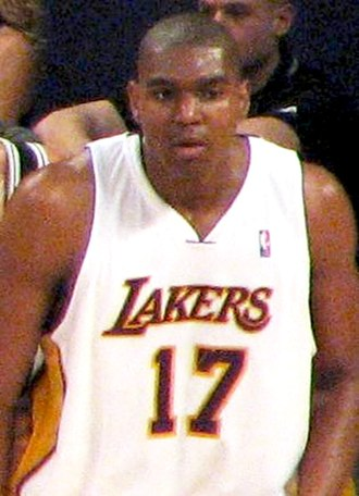 Andrew Bynum - Bynum playing in a game against the San Antonio Spurs.