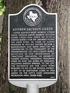 Andrew Jackson Zilker American politician and philanthropist