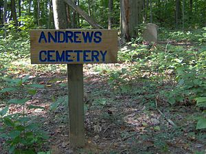 Norris Dam State Park - Andrews Cemetery atop Andrews Ridge, in the west section of the park