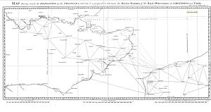 Anglo-French Survey (1784–1790) - The proposed triangulation mesh.