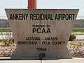 Ankeny Iowa 20090503 Airport Sign.JPG