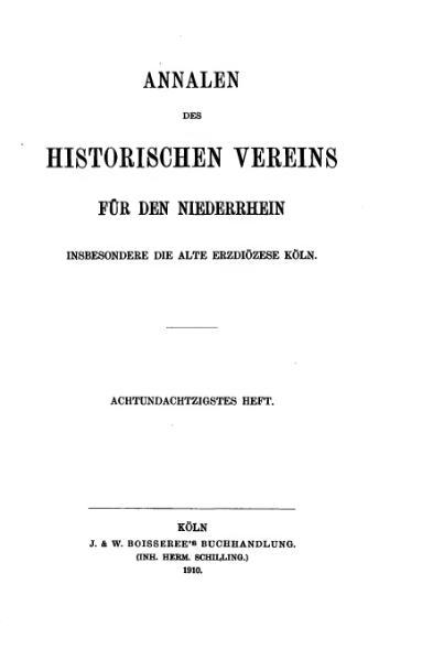 File:Annalen des Historischen Vereins für den Niederrhein 88 (1910).djvu